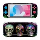 Colorful Skull Nintendo switch Lite console sticker skin