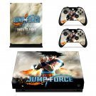 Jump Force skin decal for Xbox one X console and controllers