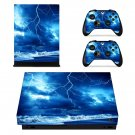 Thunder lightings skin decal for Xbox one X console and controllers