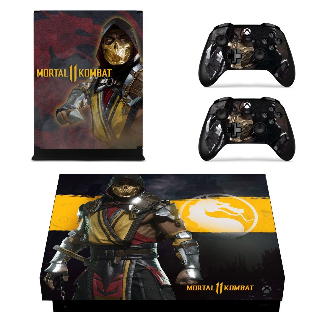 Mortal Kombat 11 skin decal for Xbox one X console and controllers
