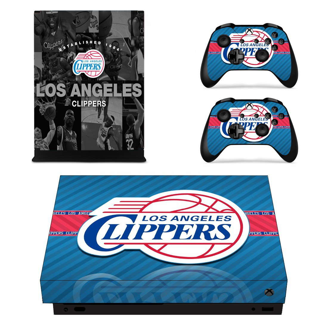 Los Angeles Clippers skin decal for Xbox one X console and controllers