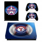 Texas Rangers skin decal for Xbox one X console and controllers