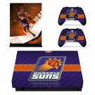 Phoenix Suns skin decal for Xbox one X console and controllers