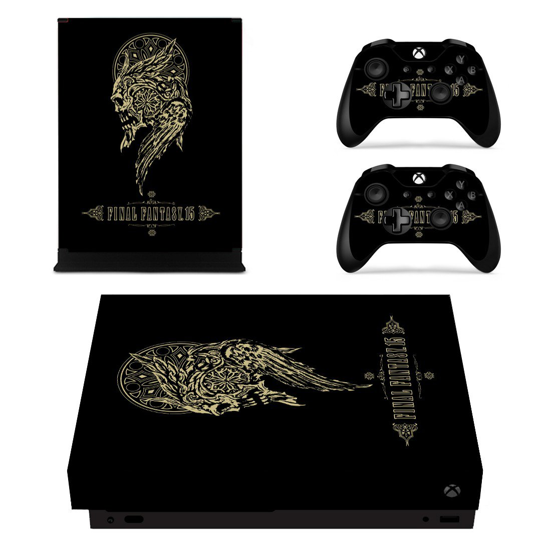 Final Fantasy 15 skin decal for Xbox one X console and controllers