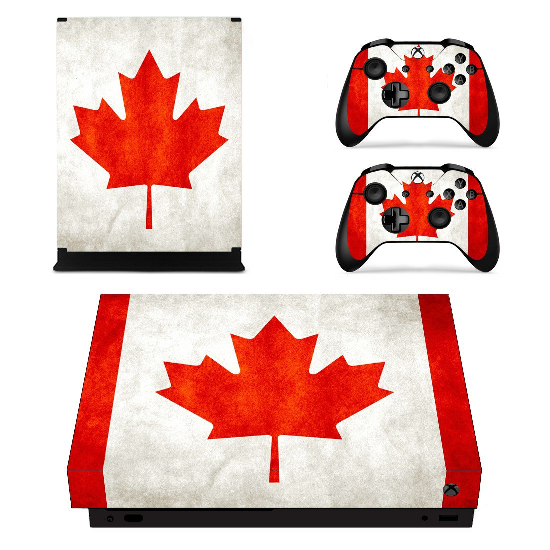 Canadian Flag skin decal for Xbox one X console and controllers