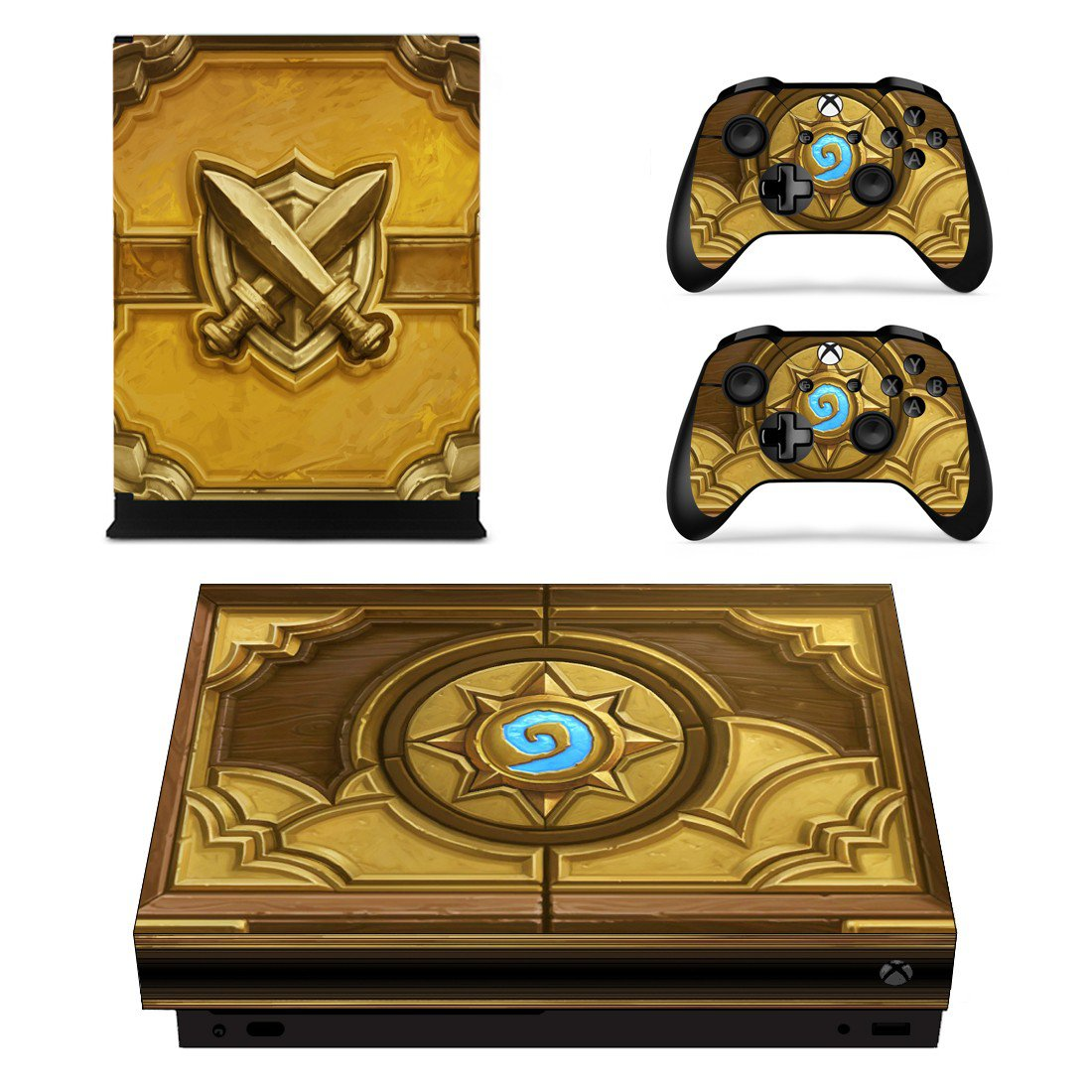 Hearthstone skin decal for Xbox one S console and controllers