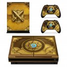 Hearthstone skin decal for Xbox one X console and controllers