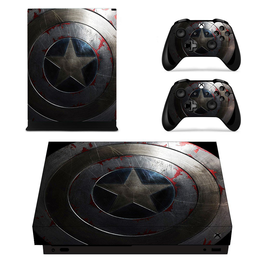Captain America skin decal for Xbox one S console and controllers
