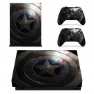 Captain America skin decal for Xbox one X console and controllers