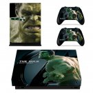 The Hulk skin decal for Xbox one X console and controllers