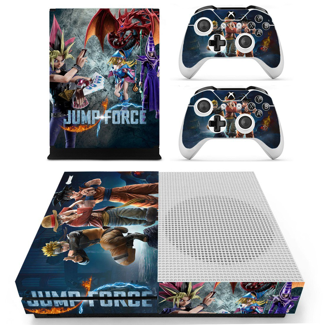Jump Force skin decal for Xbox one S console and controllers