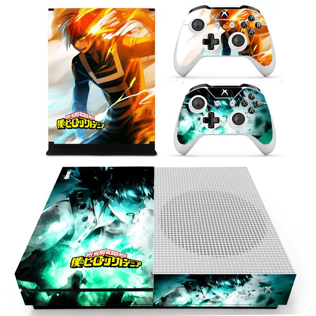 My Hero Academia skin decal for Xbox one S console and controllers