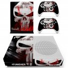 The Punisher skin decal for Xbox one S console and controllers