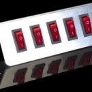 Quint Button Switch Plate