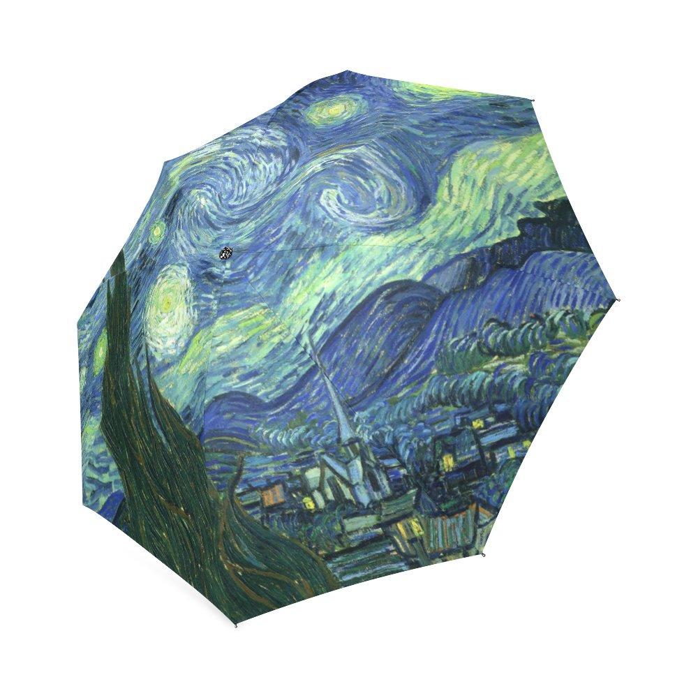 Starry Night Vincent Van Gogh Foldable Umbrella 8 ribs