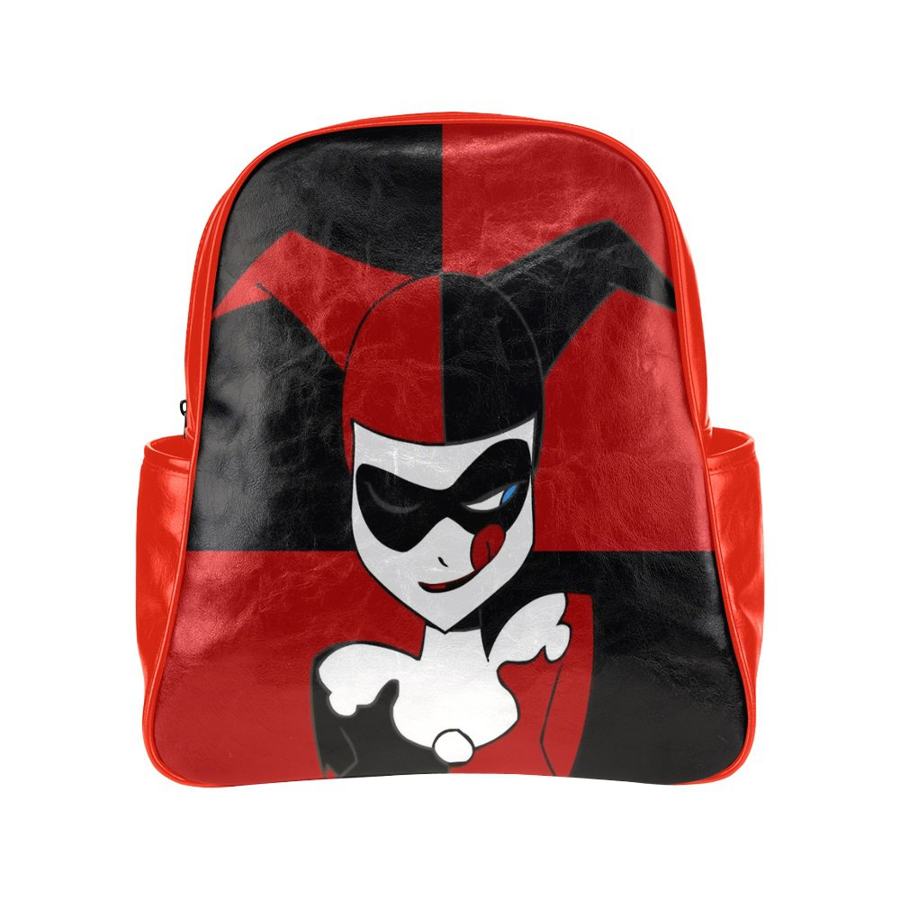 Harley Quinn Multi Pocket Backpack Bag School Bag Laptop Bag