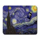 Starry Night Tardis Police Box Mousepad Non Slip Neoprene