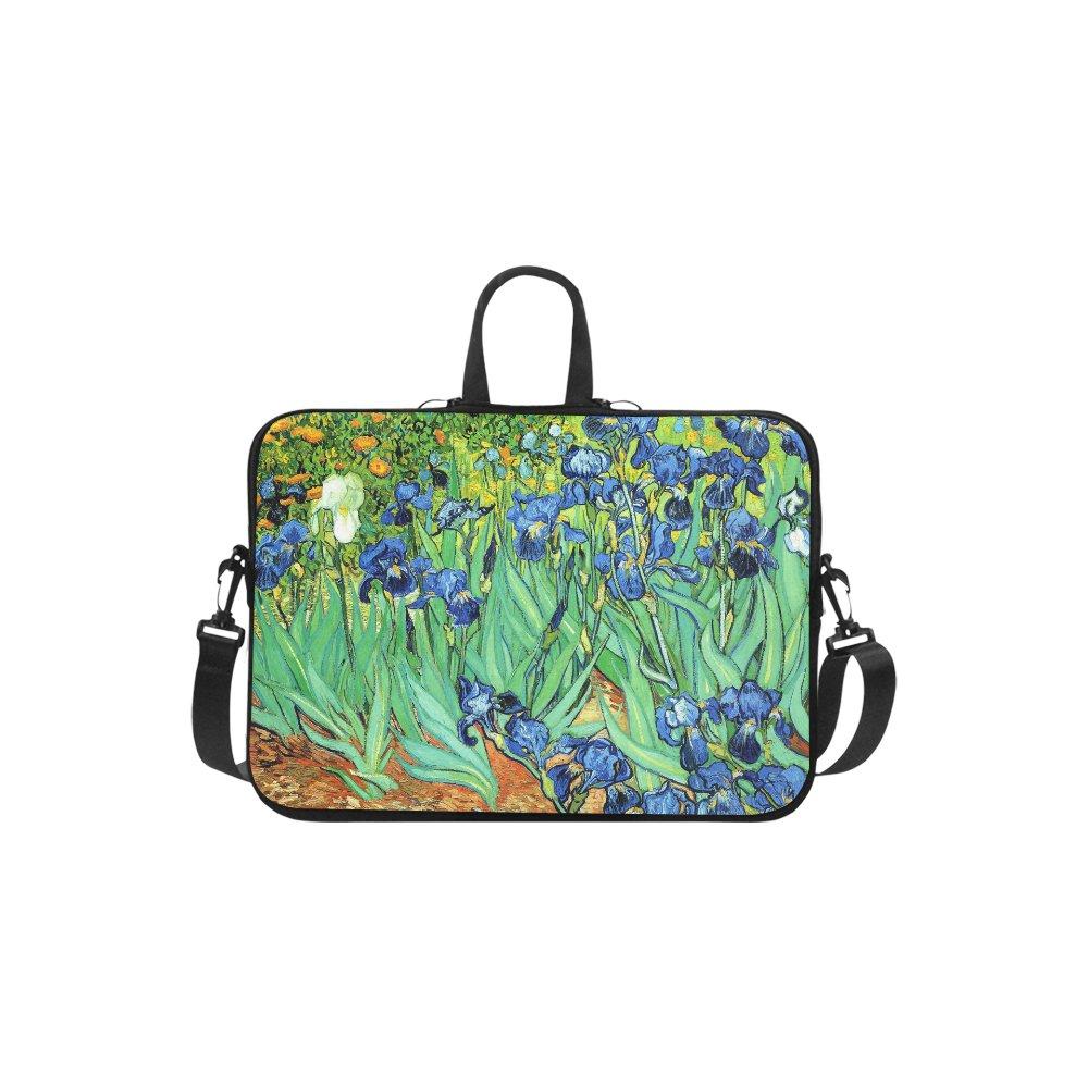 "Irises Van Gogh Sleeve Case Shoulder Bag for Laptop 17"""