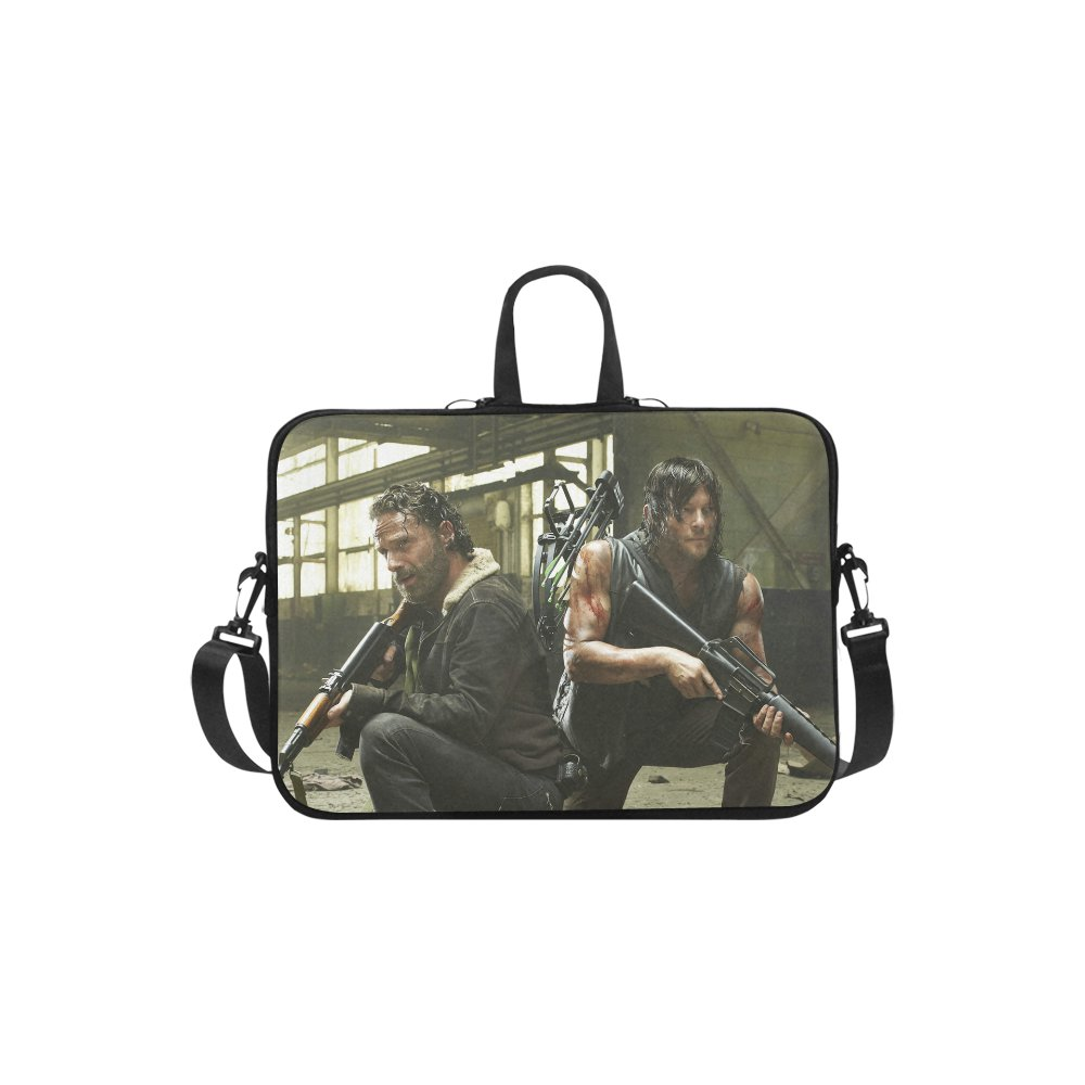 Walking Dead Rick Grimes and Daryl Dixon Sleeve Case Shoulder Bag for Laptop 14""