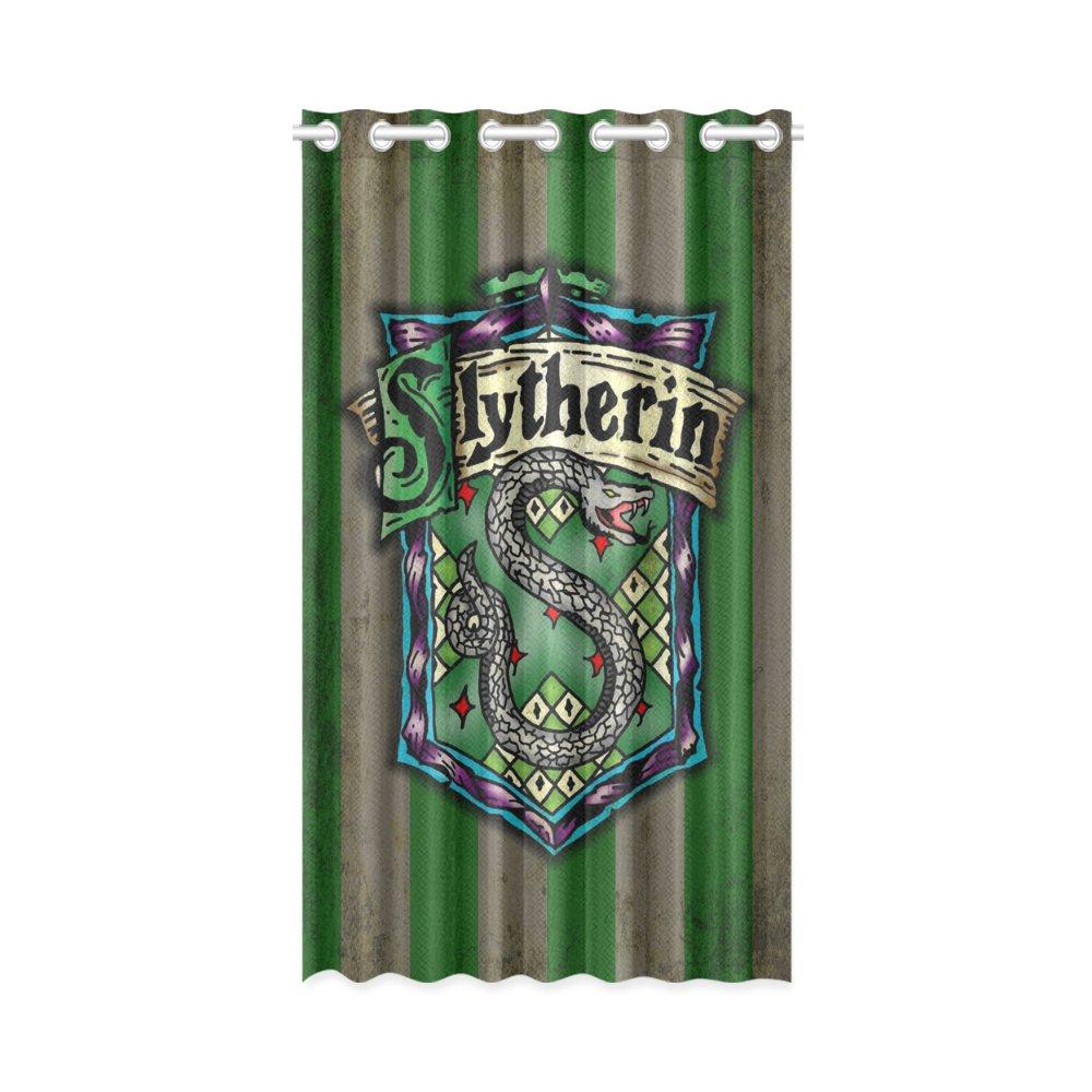 """1x Slytherin Polyester Window Curtain 52"""" x 84"""" (132 cm x 213 cm)"""