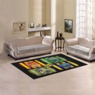 "Harry Potter Hogwarts Houses Area Rug size 60""x 39"""