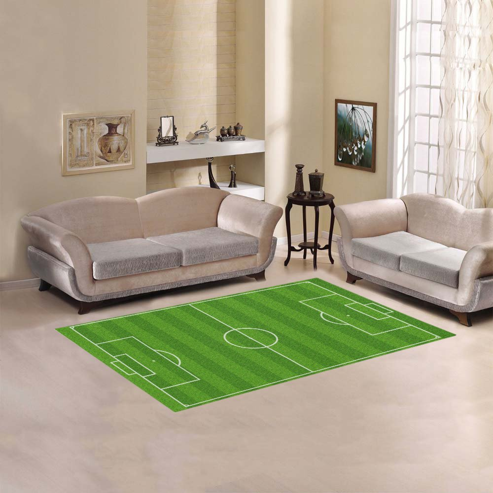 "Football Soccer Field Area Rug size 60""x 39"""