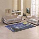 "Starry Night feat Tardis Police Box Area Rug size 60""x 39"""
