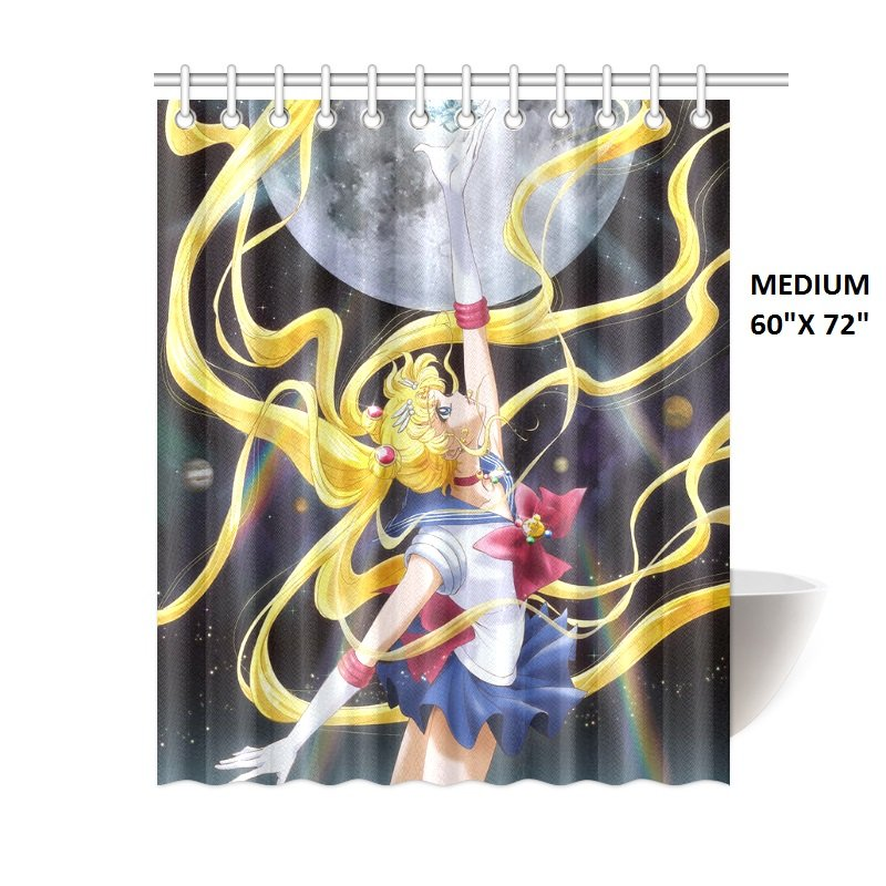 "Sailor Moon Crystal Shower Curtain (Medium (60"" x 72"")"