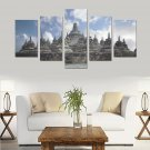 Borobudur Buddhist Biggest Temple Canvas Wall Art Prints (No Frame) 5-Pieces