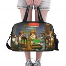 Dog Playing Poker Tote and Cross Body Travel Bag