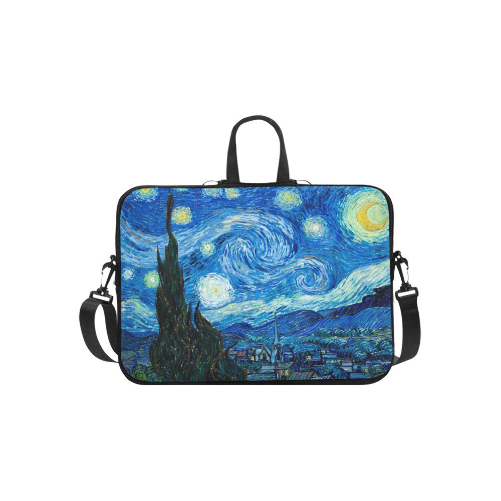 """Starry Night Van Gogh Sleeve Case Shoulder Bag for Laptop 17"""" 17.3"""""""