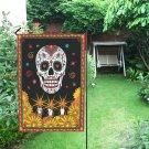 """Day of the Dead Dia De Muertos Skull Halloween Garden Flag 12"""" x 18"""""""
