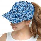 Camo Blue Snapback Cap Hat