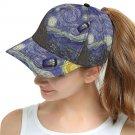 Starry Night feat Tardis Police Box Snapback Cap Hat