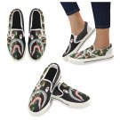Size US 7.5 Shark Camo Women's Slip On Canvas Shoes