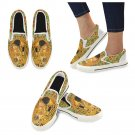Size US 7.5 Gustav Klimt The Kiss Art Women's Slip On Canvas Shoes