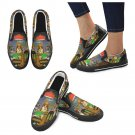 Size US 7.5  Dogs Playing Poker Women's Slip On Canvas Shoes