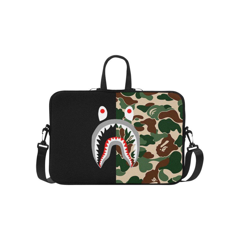 """Shark Camo Sleeve Case Shoulder Bag for Laptop 17"""" 17.3"""""""