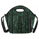 Matrix Computer Coding Neoprene Lunch Bag (Large)