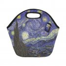 Starry Night Van Gogh feat Tardis Police Box Neoprene Lunch Bag (Small)