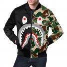 Size L - Shark Camo Men's All Over Print Casual Jacket