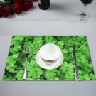 """(Set of 4) 12"""" x 18"""" Clover Leaves St. Patrick Plate Place Mat"""