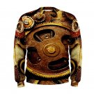 Size L - Steampunk Men's Sweatshirt Autumn Winter Wear
