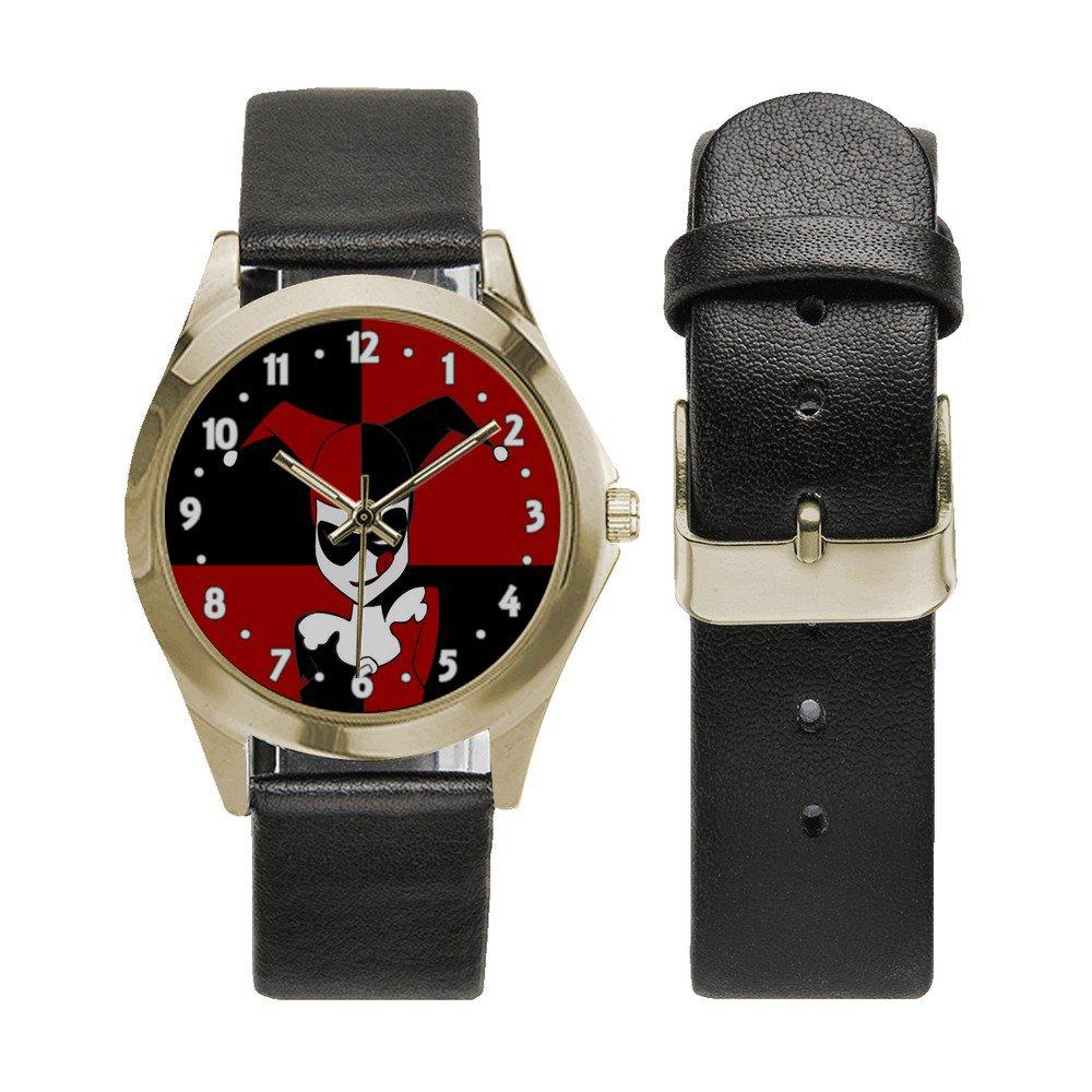 Harley Quinn Unisex Round Metal Watch