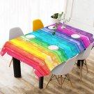 """#1 Rainbow 52"""" x 70"""" Table Cloth Tablecloth Table Cover"""