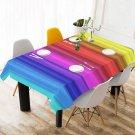 """#2 Rainbow 52"""" x 70"""" Table Cloth Tablecloth Table Cover"""