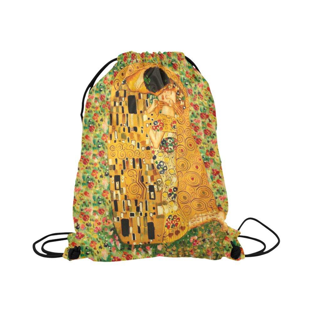 Gustav Klimt The Kiss Drawstring Bag for Sports or Gym