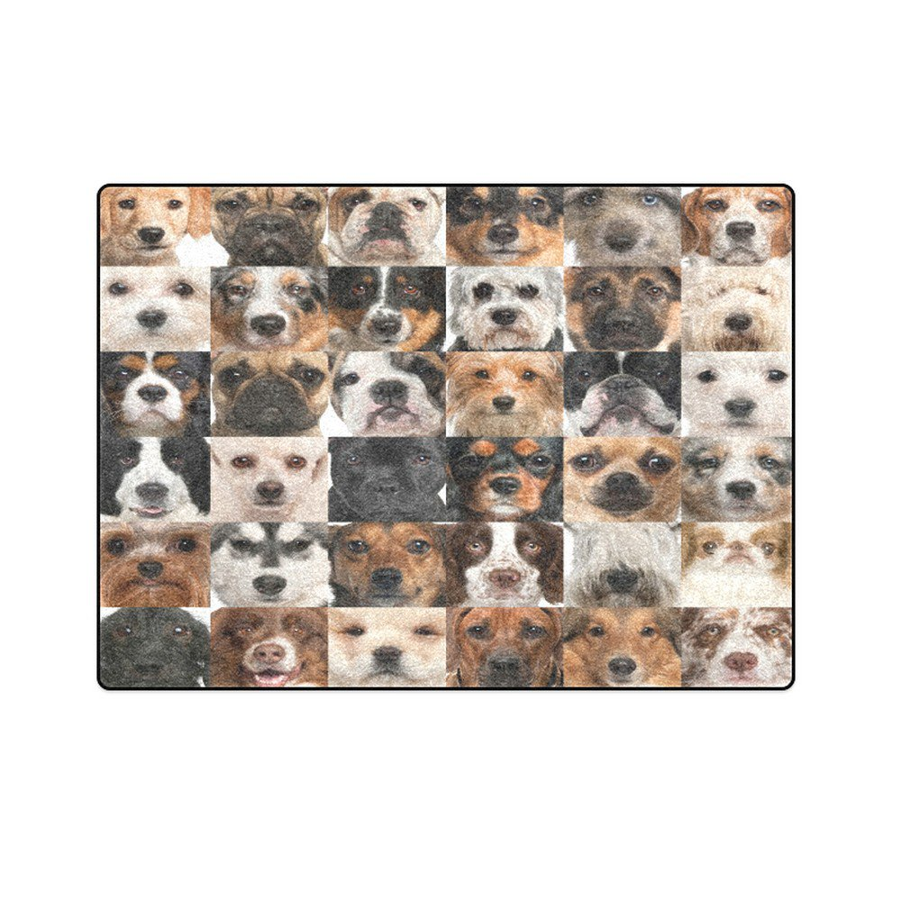 """Collection of Dogs 'One Layer' Fleece Blanket (Large) 58""""x80"""""""