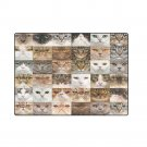 """Collection of Cats 'One Layer' Fleece Blanket (Large) 58""""x80"""""""