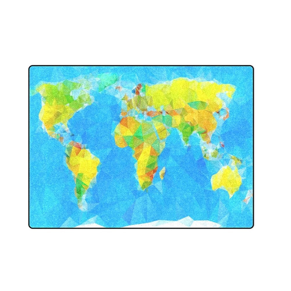 "World Vector 'One Layer' Fleece Blanket (Large) 58""x80"""